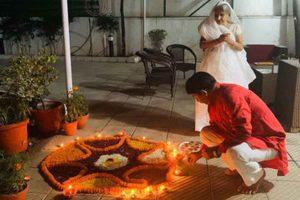 Delhi BJP chief Manoj Tiwari celebrates Diwali with residents of unauthorised colonies