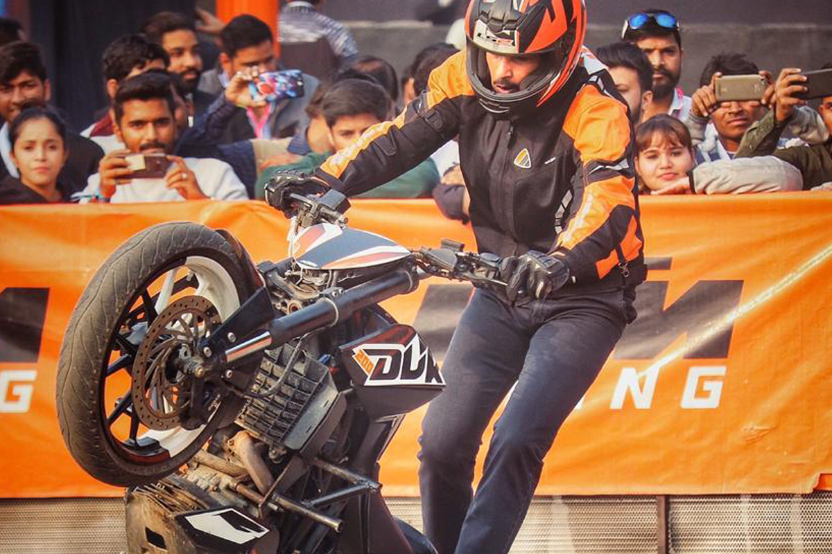 Rakshit Chaudhary has raised the bar with his stunt riding skills