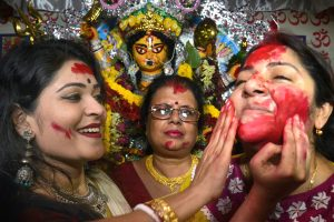 In Pictures | Women celebrate Sindur Khela with great zeal