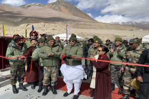 Rajnath Singh inaugurates bridge connecting China border, says Siachen open for tourism