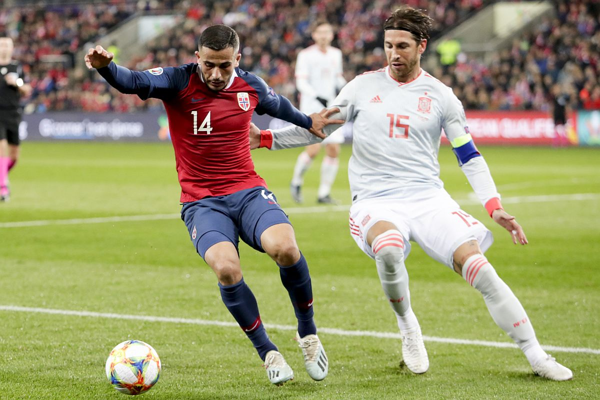 Sergio Ramos becomes Europe's most capped male outfield player