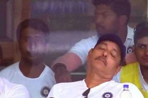 Ravi Shastri's napping image becomes subject of jokes on social media