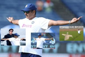 Netizens troll Ravi Shastri for 'Titanic' pose