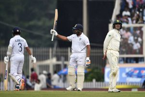 Rohit Sharma sets record for most sixes in a Test Series