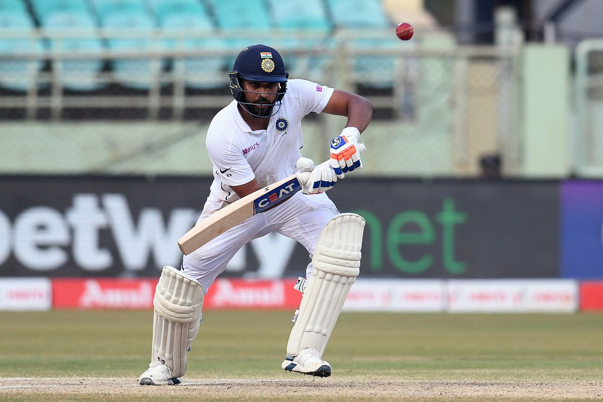 Rohit Sharma becomes second Indian opener to hit twin hundreds, first batsman ever to do so in maiden test as