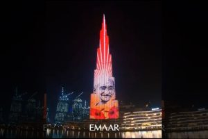 Burj Khalifa pays tribute to Mahatma Gandhi on his birth anniversary