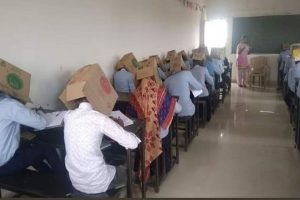 Karnataka students made to wear cartons to prevent cheating