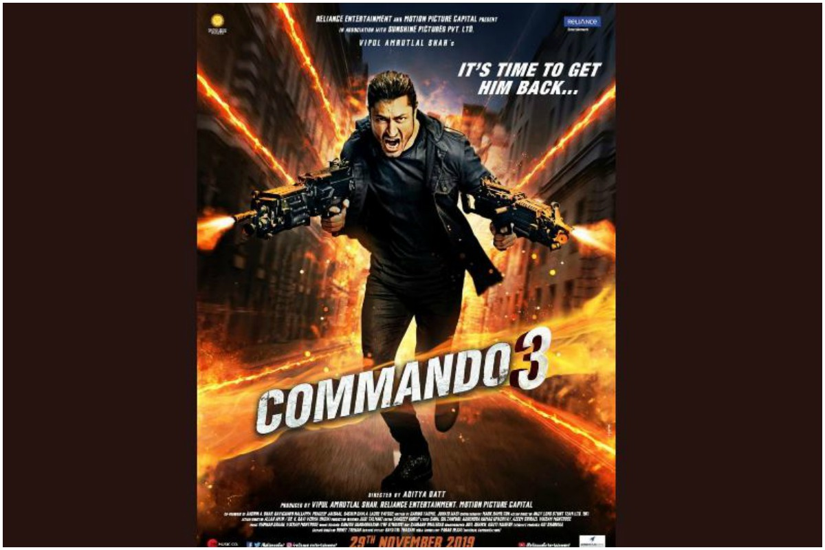 Commando 3, Vidyut Jammwal, Taran Adarsh, Aditya Dutt, Karenjit Kaur: The Untold Story of Sunny Leone, Commando: A One Man Army, Commando 2: The Black Money Trail, Angira Dhar, Adah Sharma, Gulshan Devaiah