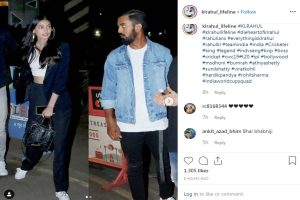 Athiya Shetty, KL Rahul get papped together at dinner