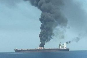 Iran oil tanker on fire after blasts, hit by 2 missiles off Saudi Arabia coast: Reports
