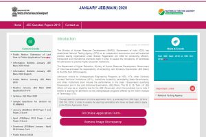 JEE Main 2020: Application form filling date extended till October 10