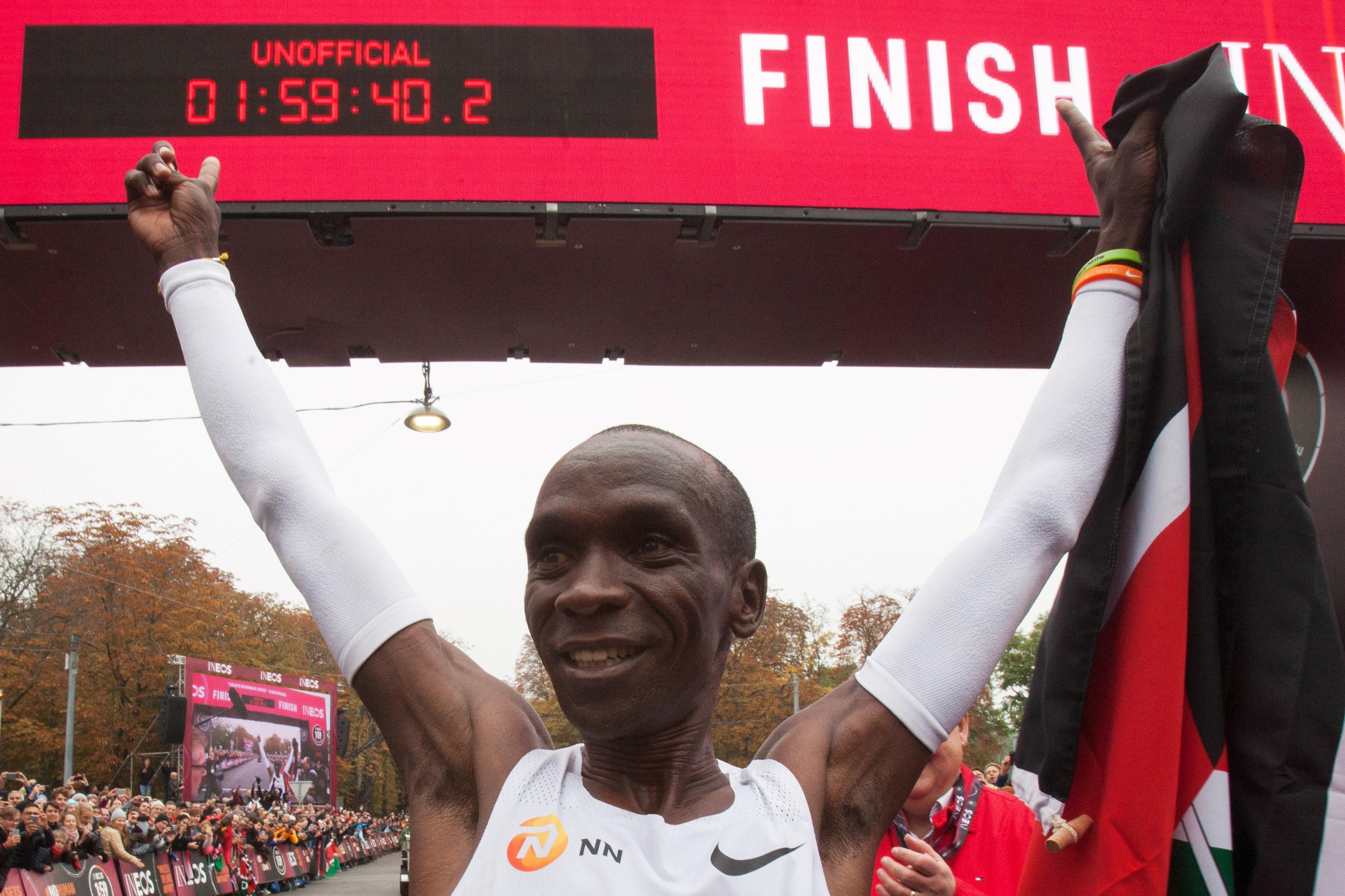 Eliud Kipchoge, Kenya, Marathon, two-hour mark in marathon,