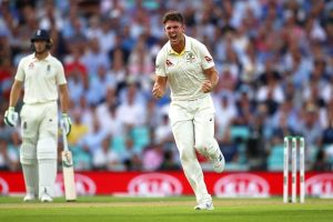 Australia's Mitchell Marsh breaks his own hand in frustration