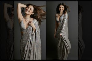 Sequin saree look to try this wedding season