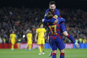 Lionel Messi scores in 700th match as Barcelona book Champions League knockout berth