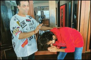 Kartik Aaryan seeks Karan Johar's blessings before Dostana 2 shoot in Chandigarh; see pics