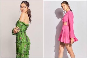 Ananya Panday floors Instagram in green-pink outfits, check out pics