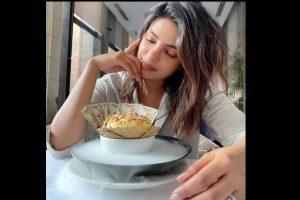 Priyanka Chopra enjoys 'Daulat Ki Chaat' in New Delhi