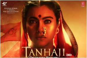 Tanhaji: Ajay Devgn unveils Kajol's first look as Savitribai Malusare