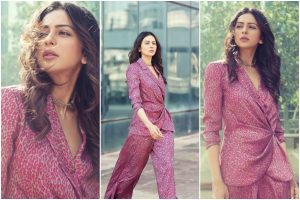 Rakul Preet Singh in satin blazer dress is an ideal outfit for 'all things formal'