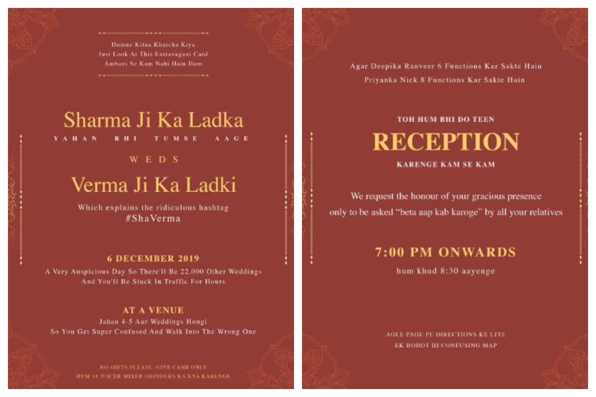 Planning a wedding card? This funny wedding invitation will leave you in splits