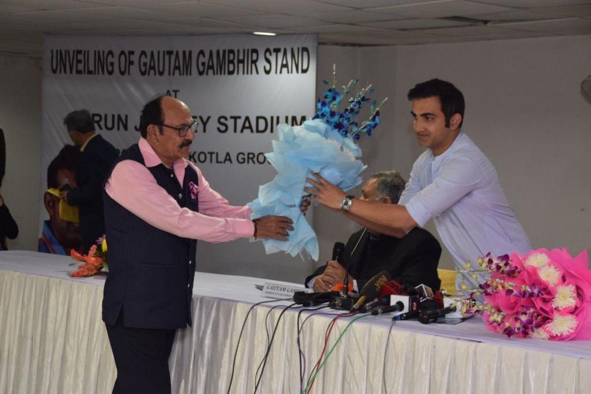 Gautam Gambhir, Arun Jaitley Stadium, Delhi and District Cricket Association, DDCA,