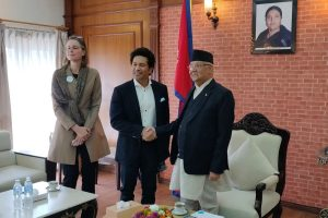 Sachin Tendulkar bats for brain development in Kathmandu