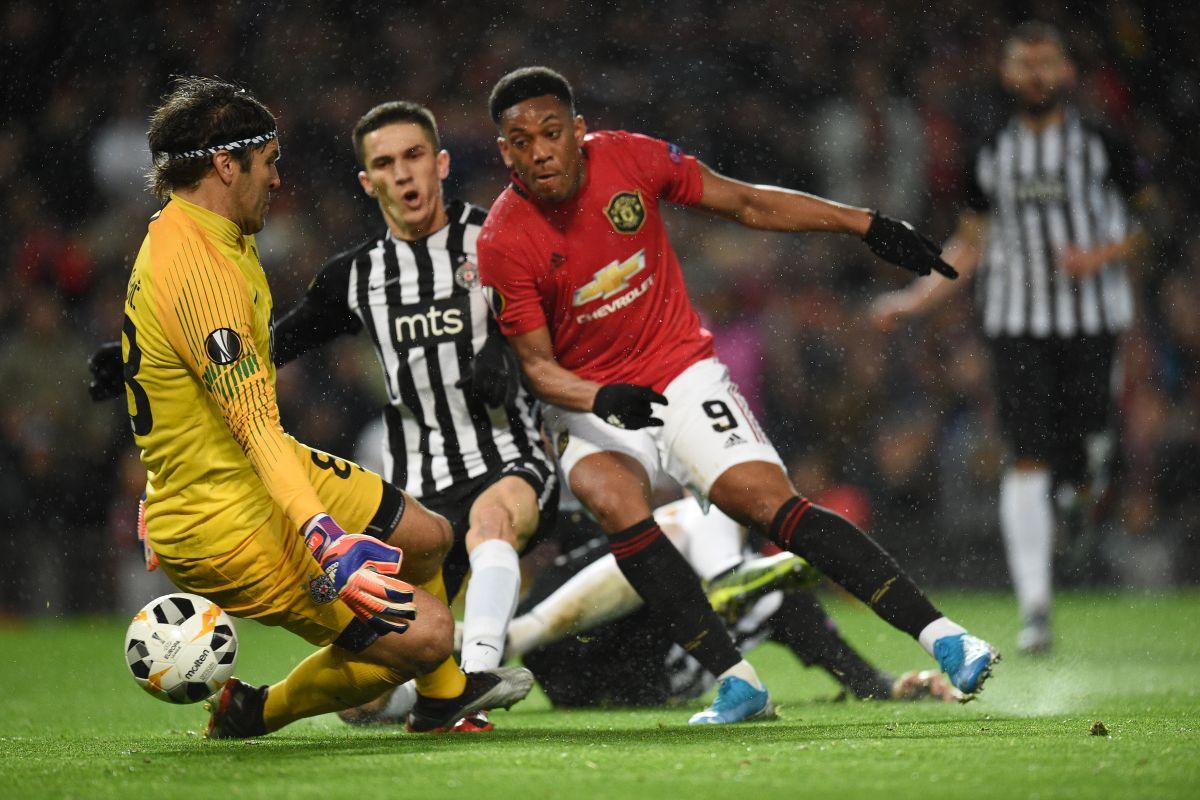 Anthony Martial, UEFA Europa League, Manchester United vs Partizan, UEFA Europa League 2019-20,