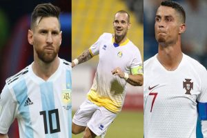 Former Netherlands player Sneijder reveals why he couldn't level with Ronaldo and Messi