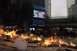 Hong Kong braces for violent clashes on 4th day of protests