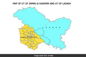 Union Territories of Jammu and Kashmir, Ladakh depicted in new map of India
