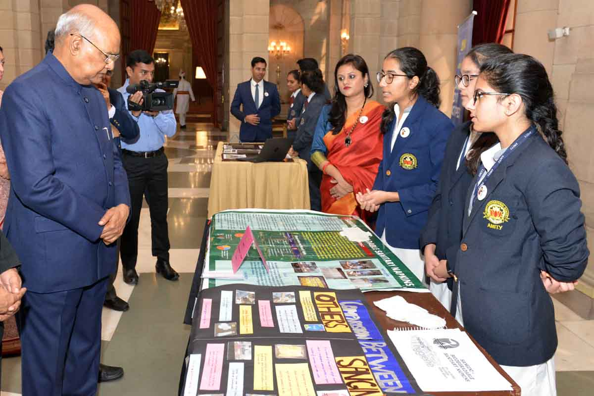 President Ram Nath Kovind urges children to tinker, innovate
