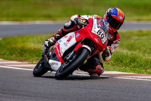 Rajiv, Senthil post personal best practice time in road racing