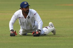 Saha becomes fifth Indian keeper to affect 100 dismissals in Test Cricket