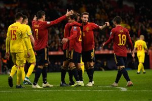 Spain thrash Romania 5-0 in final Euro 2020 qualifier