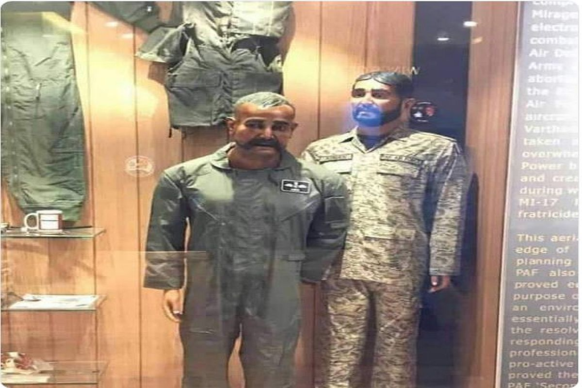 IAF pilot Wg Cdr Abhinandan Varthaman's mannequin displayed at Pakistan Air Force war museum