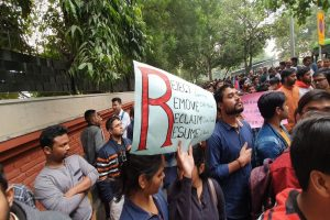 JNU protest: ABVP demands resignation of HRD minister, says we stand with students