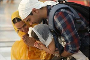 Neha Dhupia and Angad Bedi visit Golden temple on Mehr's first birthday