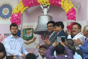 IND vs BAN D-N Test: Vishwanathan Anand, Magnus Carlsen ring Eden bell to start Day 2