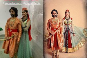 Sonam Kapoor along with husband Anand Ahuja give tribute to Mughal-e-Azam this Halloween