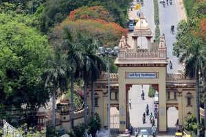 Tension in BHU after Savarkar's photo defaced, heavy police force deployed