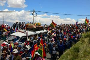Police bust Bolivia funeral protest as Congress meets on election