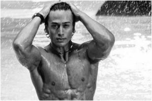 Tiger Shroff flaunts his washboard abs in monochrome picture