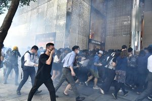Hong Kong protests: Police shoots at protester in chest during morning clashes