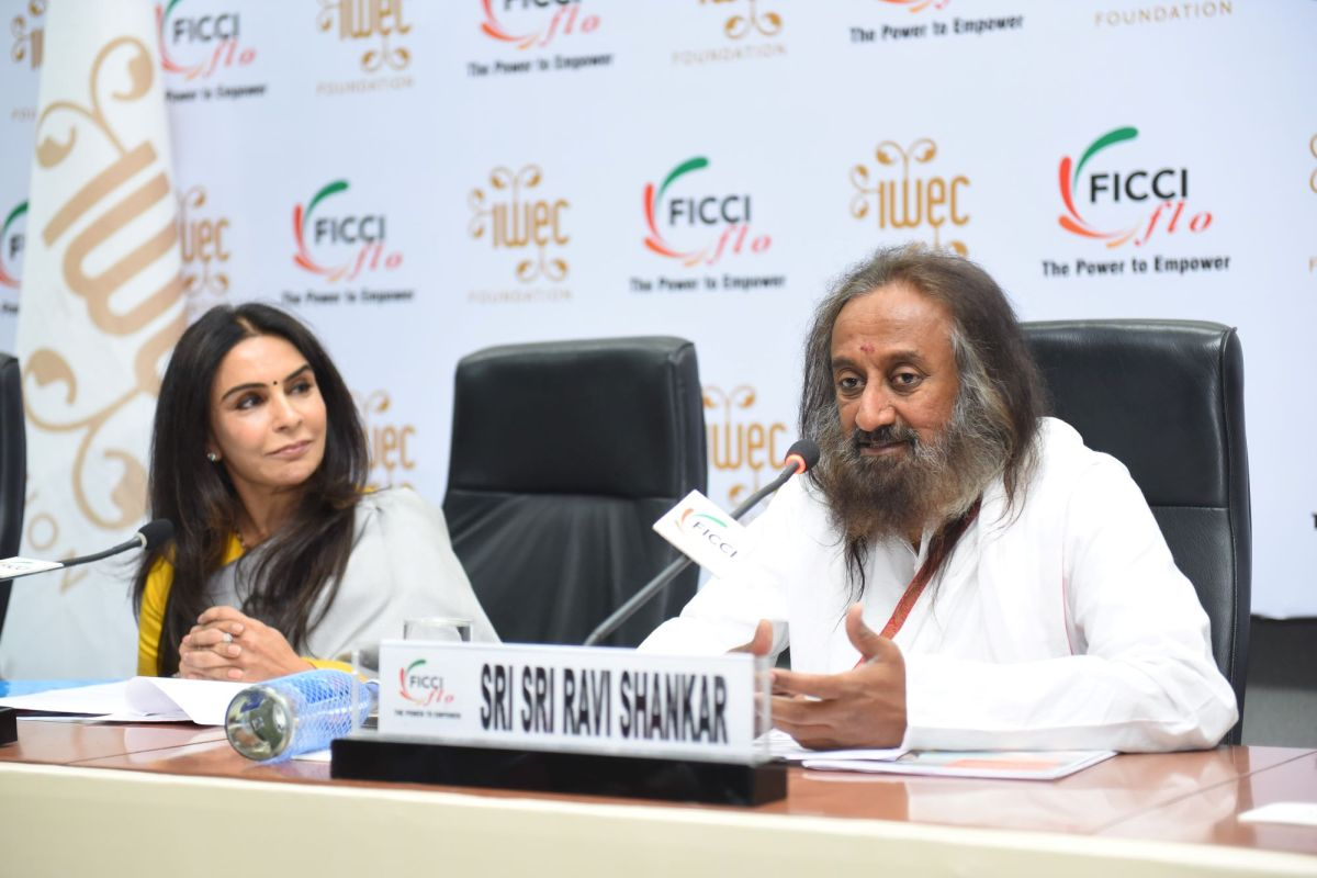 'Success is undying confidence with a smile that doesn't wither away,' says Sri Sri Ravi Shankar at IWEC 2019