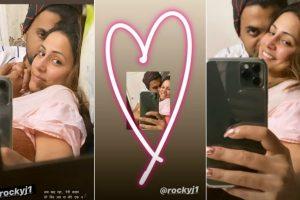 Hina Khan, beau Rocky Jaiswal's adorable mirror selfies are just cute