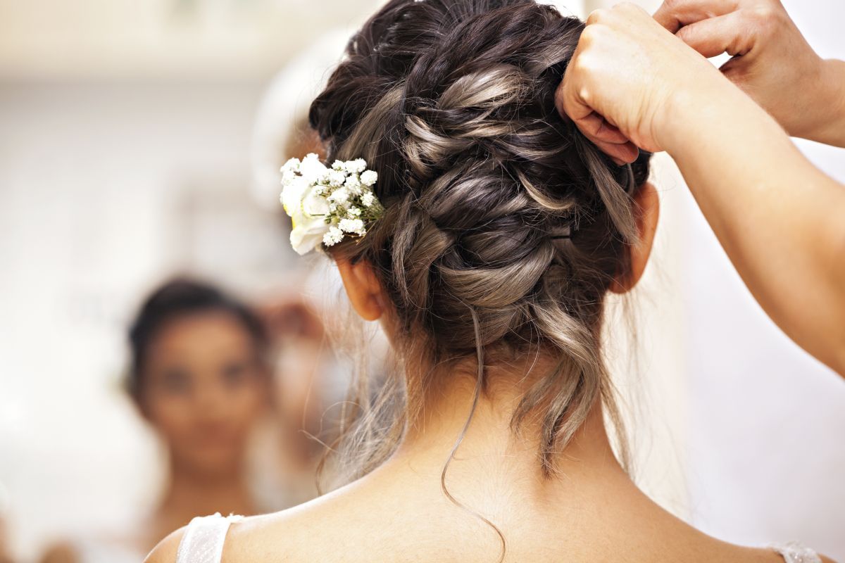 hairstyles, wedding season, Face Framing, curled ends, Low side bun with puffy crown