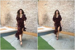 Watch| Kriti Sanon out-of-the-box neckpiece goes wrong; check it now