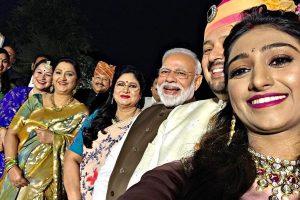 PM Modi attends Princess Mohena Kumari's wedding reception in Delhi