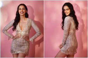 Manushi Chhillar's shimmery dress gives party vibes; check out pics